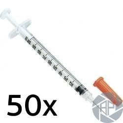 Les seringues d'insuline 50x