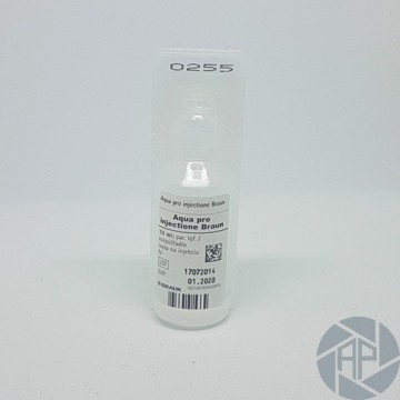 Aqua pro injectione Braun 10 ml